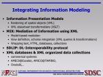 integrating information modeling