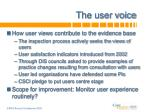 the user voice1