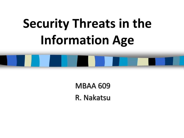 security threats in the information age n.