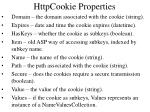 httpcookie properties