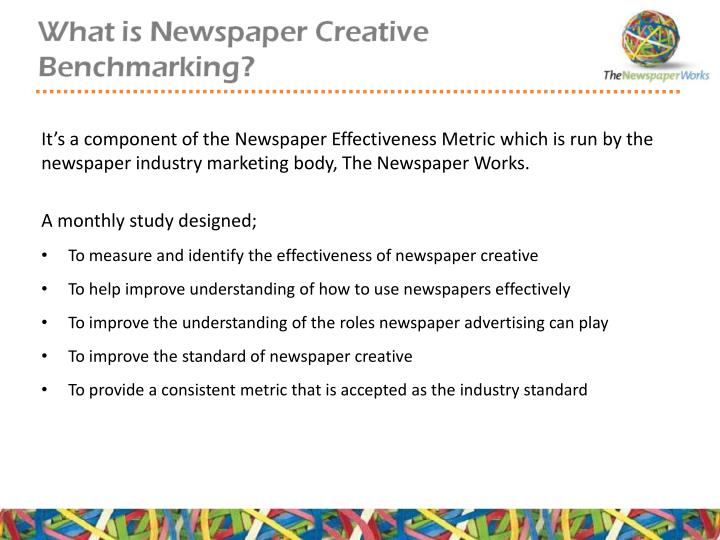 It's a component of the Newspaper Effectiveness Metric which is run by the newspaper industry mark...