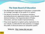 the state board of education