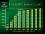 identity theft reports to lasd