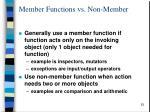 member functions vs non member