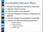 overloading operators rules