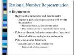 rational number representation
