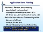 application level routing