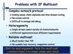 problems with ip multicast