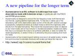 a new pipeline for the longer term