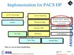 implementation for pacs dp