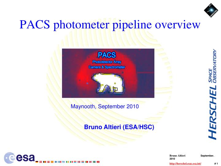 pacs photometer pipeline overview n.