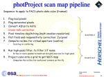 photproject scan map pipeline