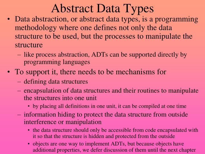 abstract data types n.
