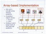array based implementation