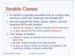 iterable classes