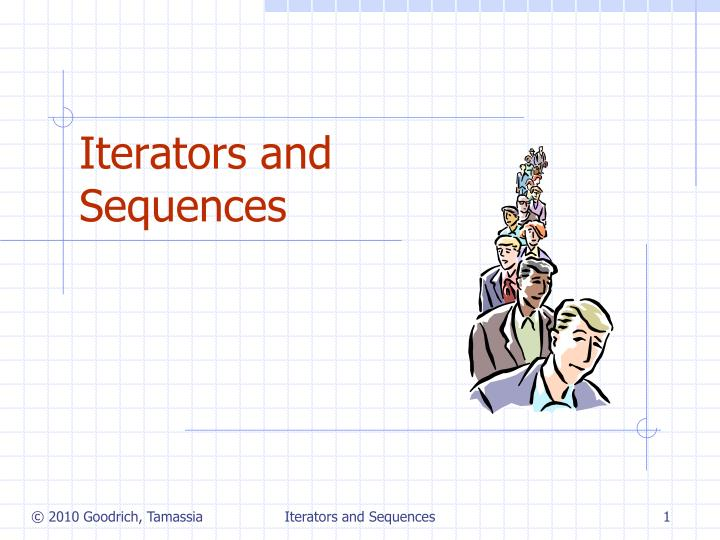 iterators and sequences n.