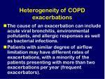heterogeneity of copd exacerbations