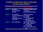 possibile classificazione della severit delle riacutizzazioni di bpco