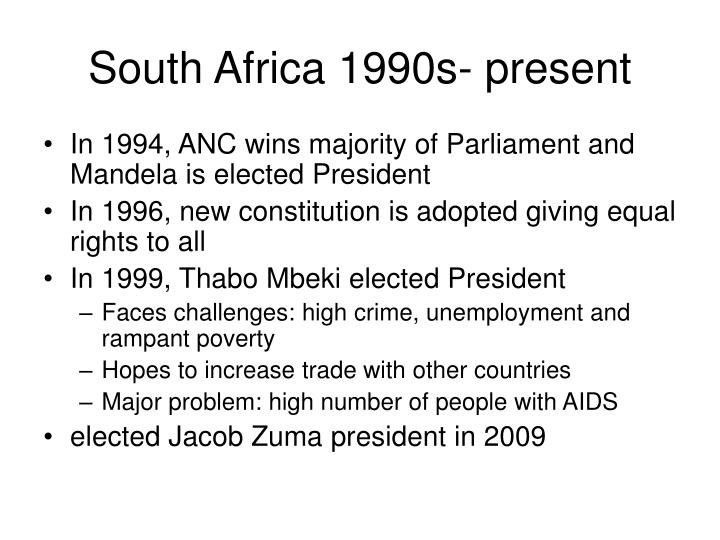 South Africa 1990s- present