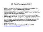 la politica coloniale
