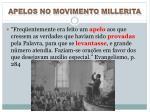 apelos no movimento millerita