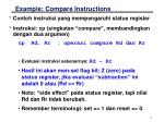 example compare instructions