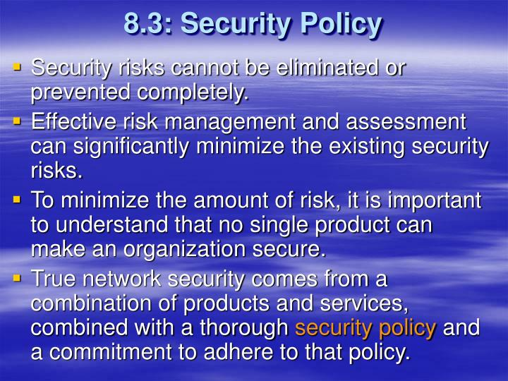 8.3: Security Policy