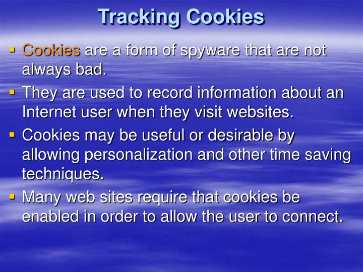 Tracking Cookies
