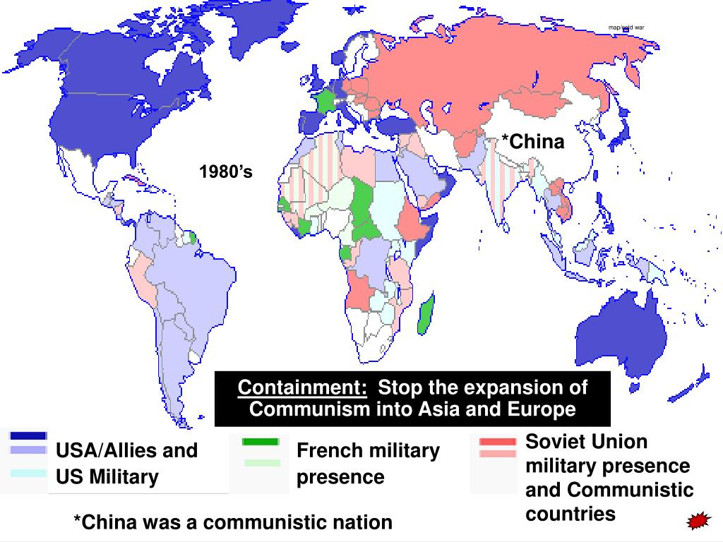 Map Of Asia During The Cold War.Ppt 1946 To 1961 Powerpoint Presentation Id 3928666