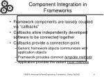 component integration in frameworks