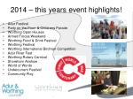 2014 this years event highlights