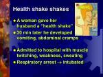 health shake shakes