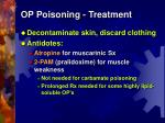 op poisoning treatment