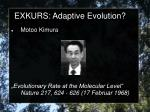 exkurs adaptive evolution