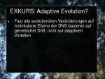 exkurs adaptive evolution1