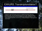exkurs transkriptionsfaktor2