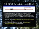 exkurs transkriptionsfaktor3