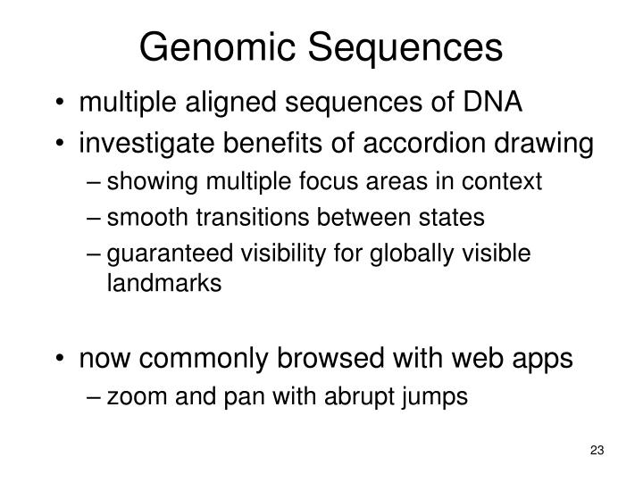 Genomic Sequences