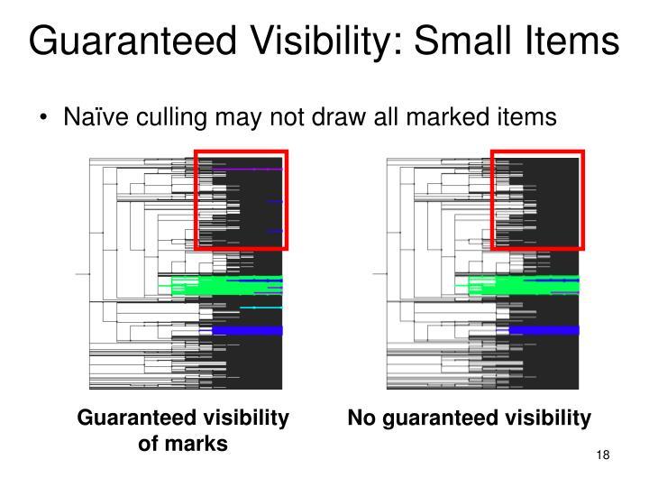 Guaranteed Visibility: Small Items
