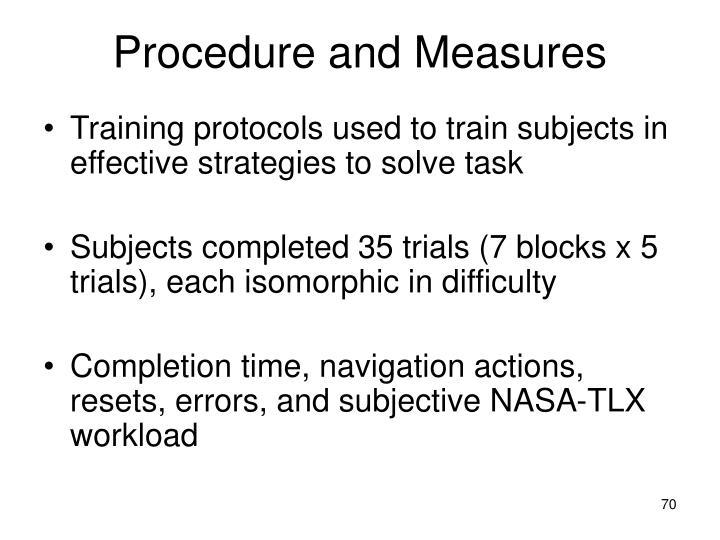 Procedure and Measures