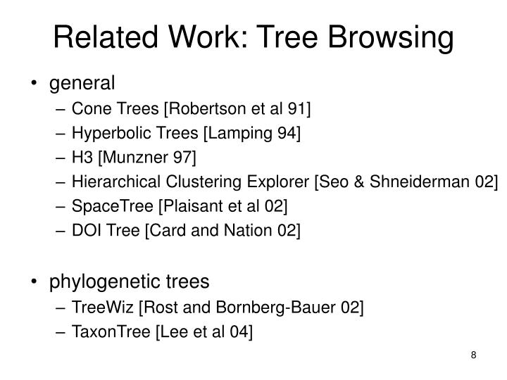 Related Work: Tree Browsing
