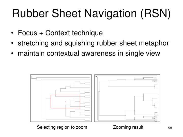 Rubber Sheet Navigation (RSN)
