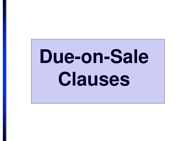 due on sale clauses n.