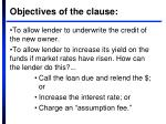 objectives of the clause