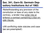 sec 341 garn st germain dep ository institutions act of 1982