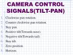 camera control signals tilt pan