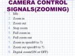camera control signals zooming