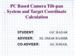 pc based camera tilt pan system and target coordinate calculation