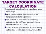 target coordinate calculation