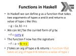 functions in haskell